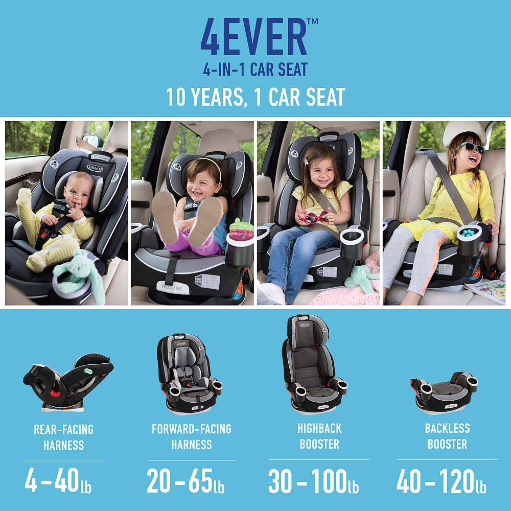 The Graco 4ever All In 1 Car Seat Gives You 10 Years With One Car Seat It 39 S Comfortable For Your Child And Conve Car Seats Toddler Car Seat Child Car Seat