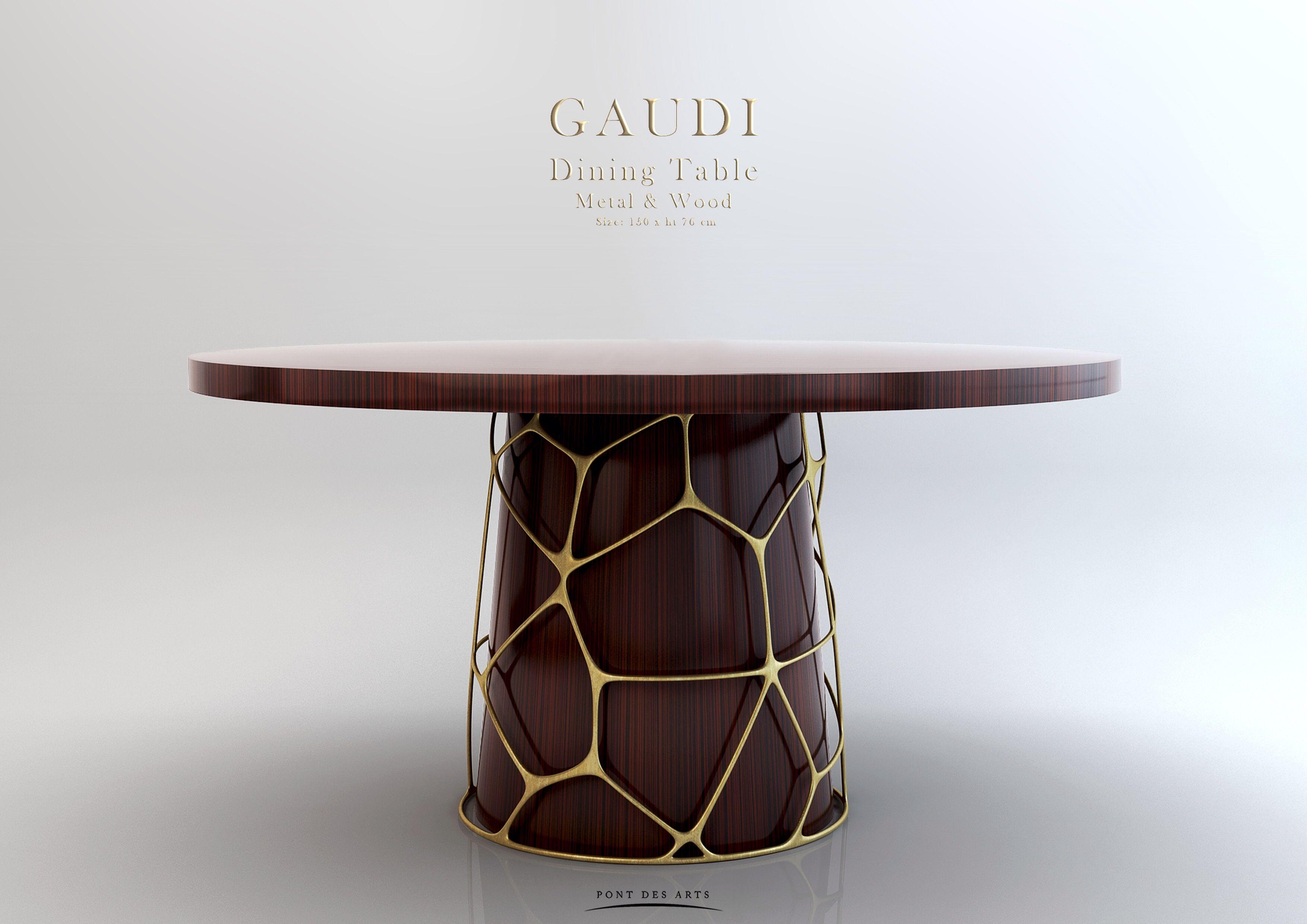 Gaudi Dining Table   Wood And Bronze   Pont Des Arts   Monzer Hammoud    Designer  Paris