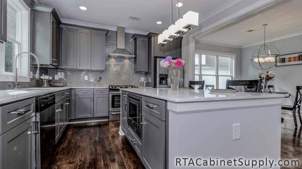 Grey Shaker Rta Kitchen Cabinet Sets With Images Best Kitchen Cabinets Kitchen Cabinet Styles Grey Shaker Kitchen