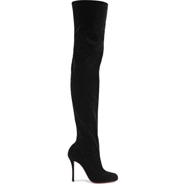 Classe 100 Stretch-velvet Over-the-knee Boots - Black Christian Louboutin Free Shipping Clearance Store ZMVO2IM3C