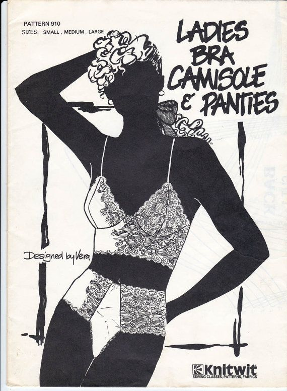 Womens Bra Camisole and Panties Pattern Knitwit 910 Vintage Lingerie ...