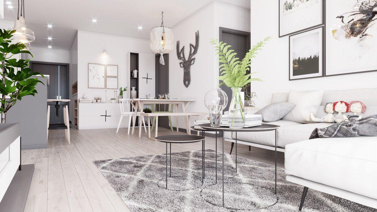 Wohnzimmer Taupe ~ Wohnzimmer in taupe und grau mit gelben akzenten mit arbeitsplatz