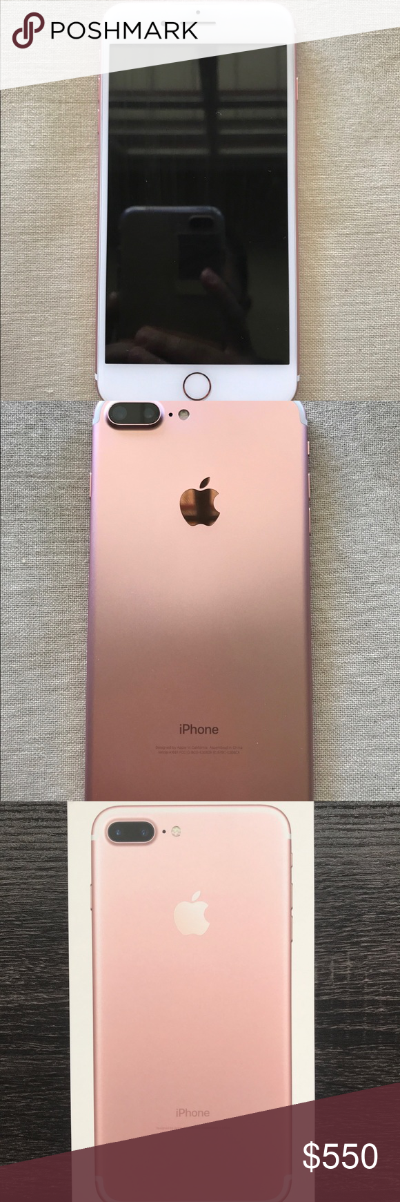 Apple Iphone 7 Plus 32 Gb Rose Gold Water Damage Apples And