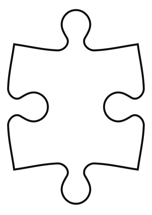 Coloring Page Puzzle Piece Coloring Picture Puzzle Piece Free Coloring Sheets To Print And Download Puzzle Piece Template Puzzle Piece Crafts Puzzle Crafts