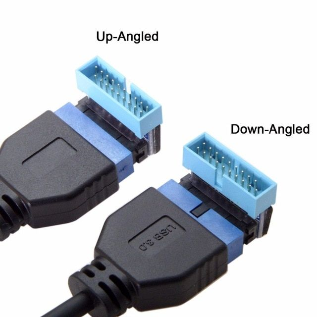 Usb 3 0 20pin Male To Female Extension Adapter Up Down