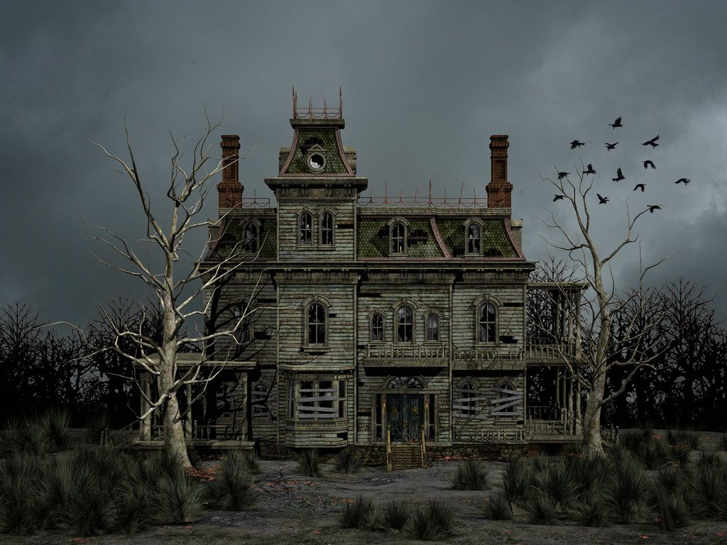 Haunted house premade background by roys for Pinterest haunted house