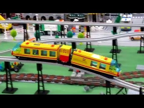 Lego Monorail Train 6399 Airport Shuttle Long And Nice Youtube