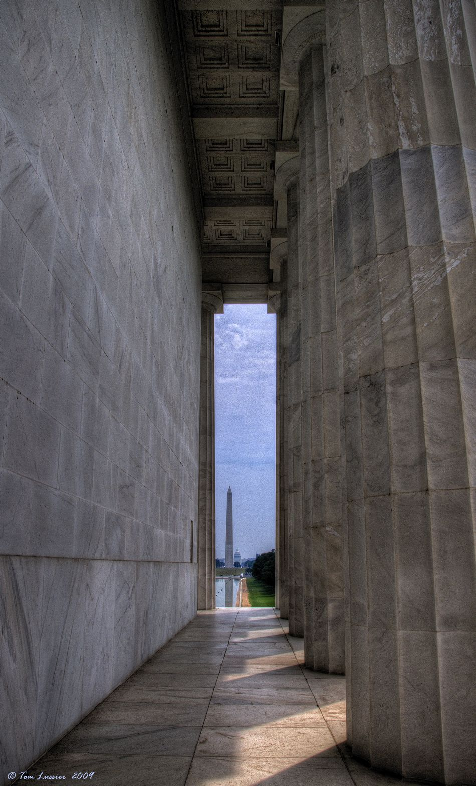 Pillars of Freedom at The Lincoln Memorial