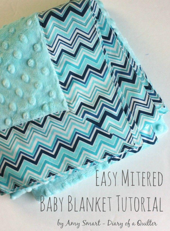 Self-binding Baby Blanket Tutorial | Krippen-Bettwäsche, Babydecken ...