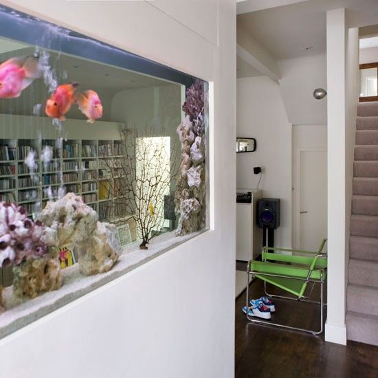 Study Room With Aquarium: How To Zone Out An Open-plan Space