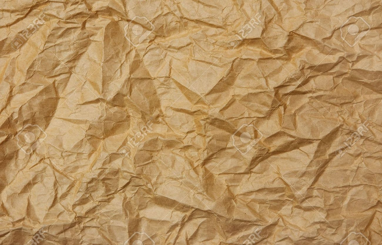 Crumpled Paper Bag Effect Paper Background Texture Crumpled Paper Background Crumpled Paper
