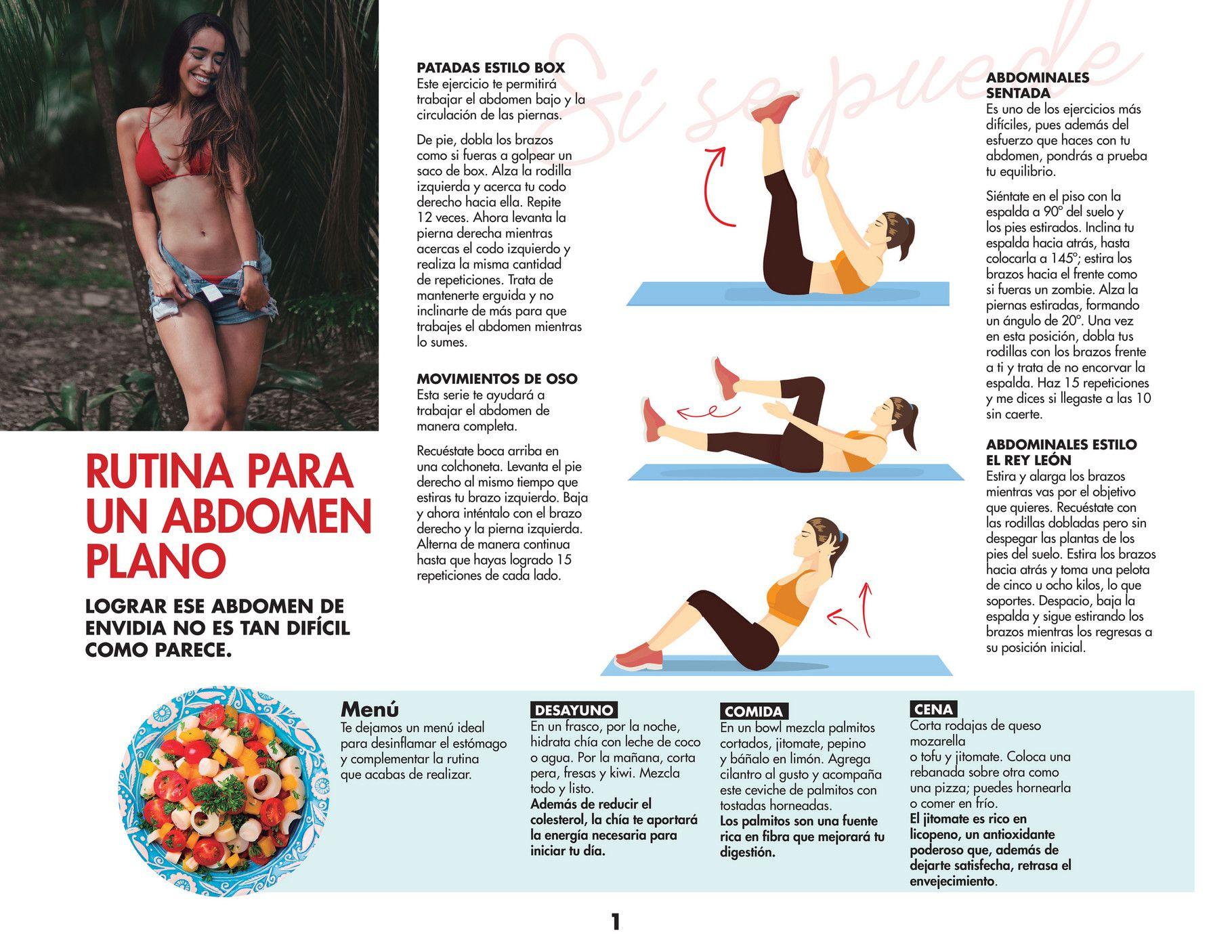 Ginmedia Vida Fit Ejercicios Y Dieta Fáciles En Casa Mujer De 10 Página 4 Ejercicios Ejercicios Para Abdomen Ejercicios Para Adelgazar Brazos