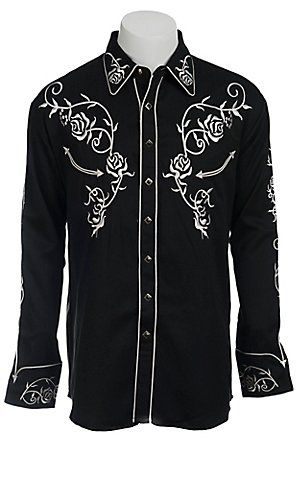 80303dac Scully® Western Mens Shirt P706BLK | Cavender's | me | Western ...