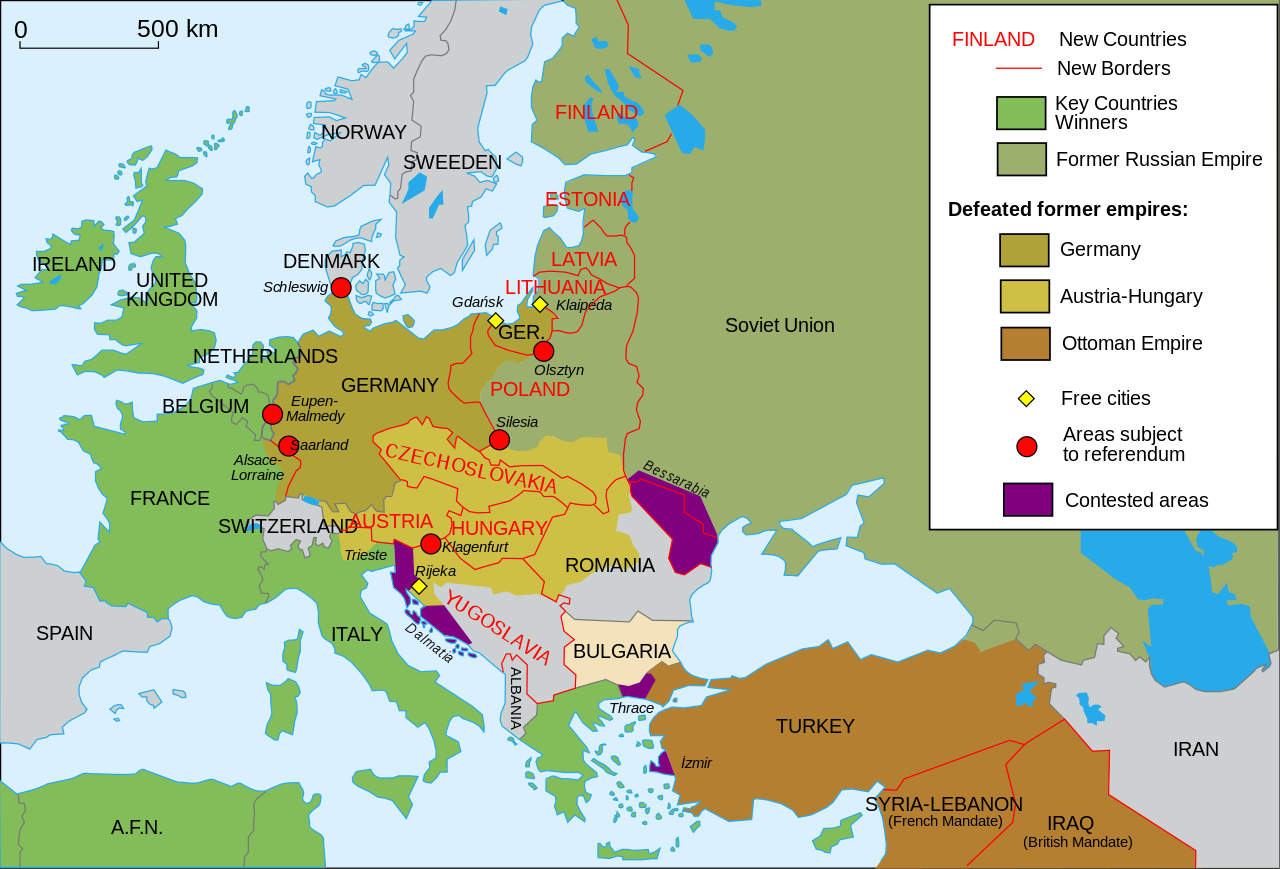 Territorial Changes In Europe After World War I Eerste