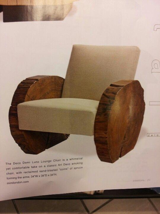 Wood slab chair | cool furniture | Pinterest | Wood slab ...