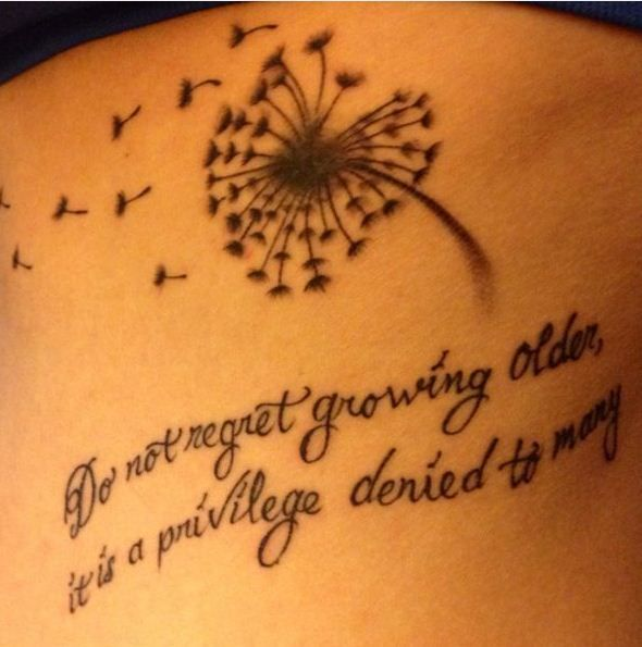 Blowball Text Tattoo: 100 Inspirational Tattoo Quotes Inked On Bodies