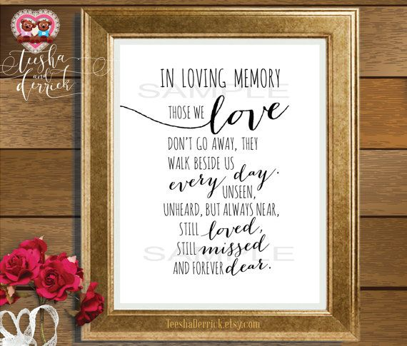 In Loving Memory Instant download Printable by ...