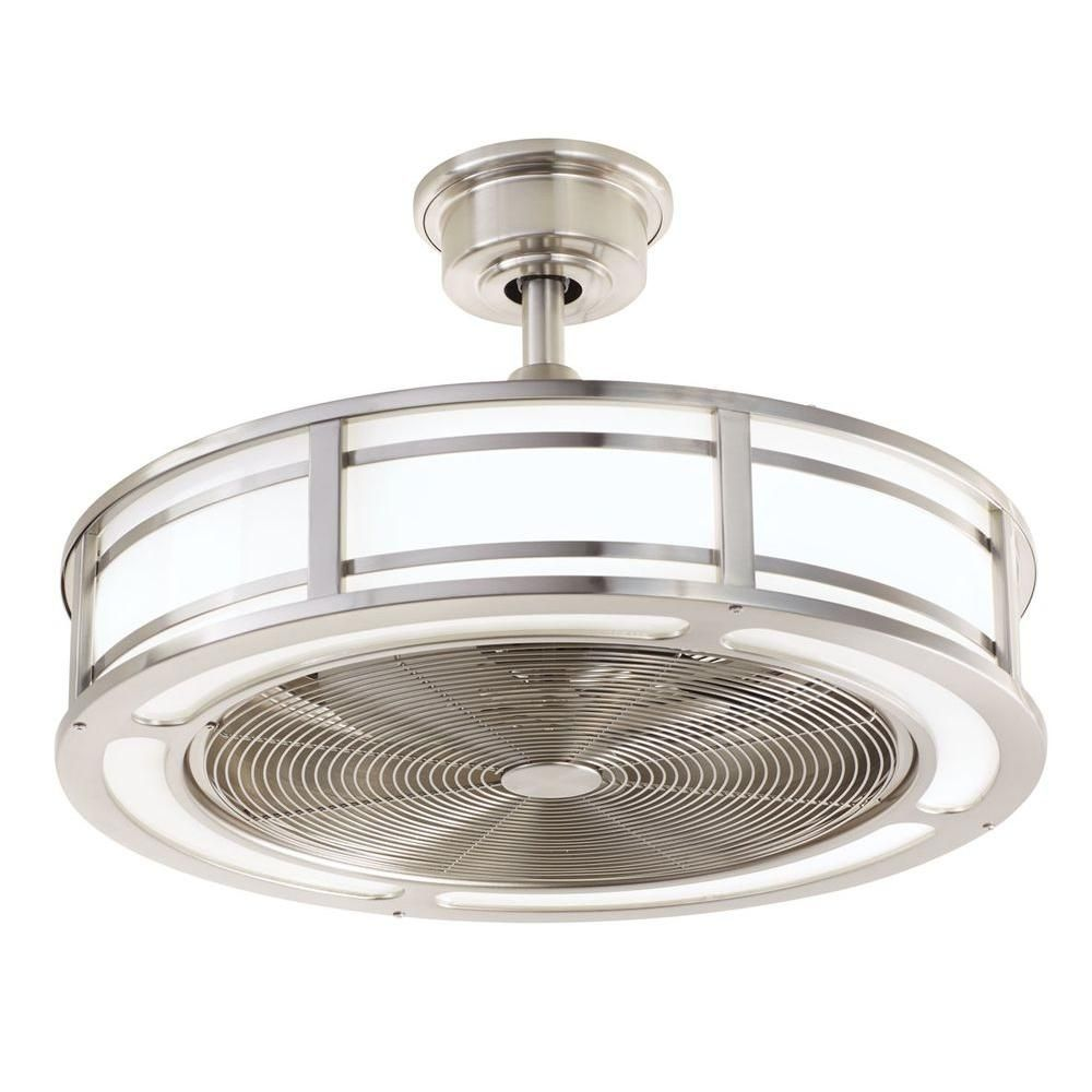 Home Decorators Collection Brette 23 In Led Indoor X2f Outdoor Brushed Nickel Ceiling Fan Am382a Bn Ceiling Fan With Light Fan Light Ceiling Fan In Kitchen