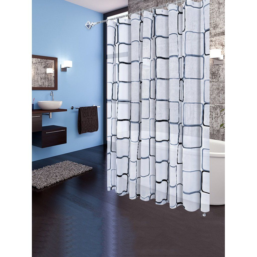Geometric eyelet shower curtain pc with hook pcs products