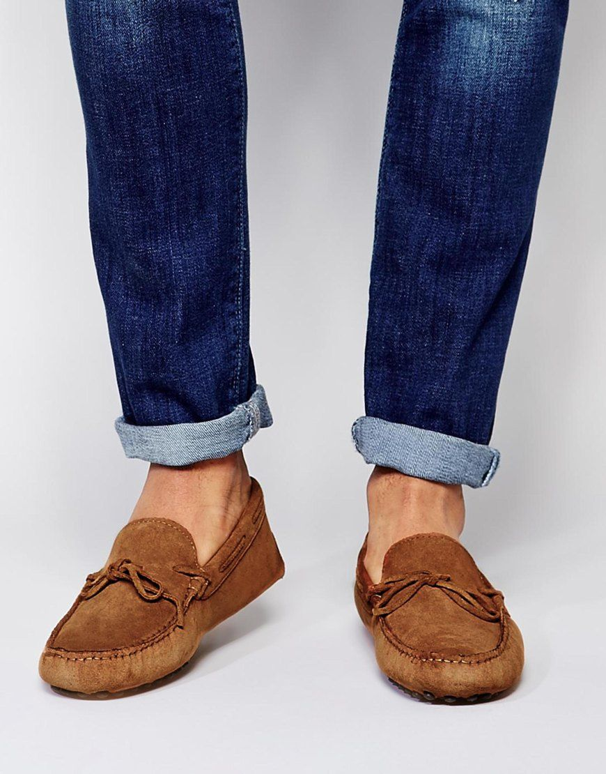 Image 1 of ASOS Driving Shoes in Suede