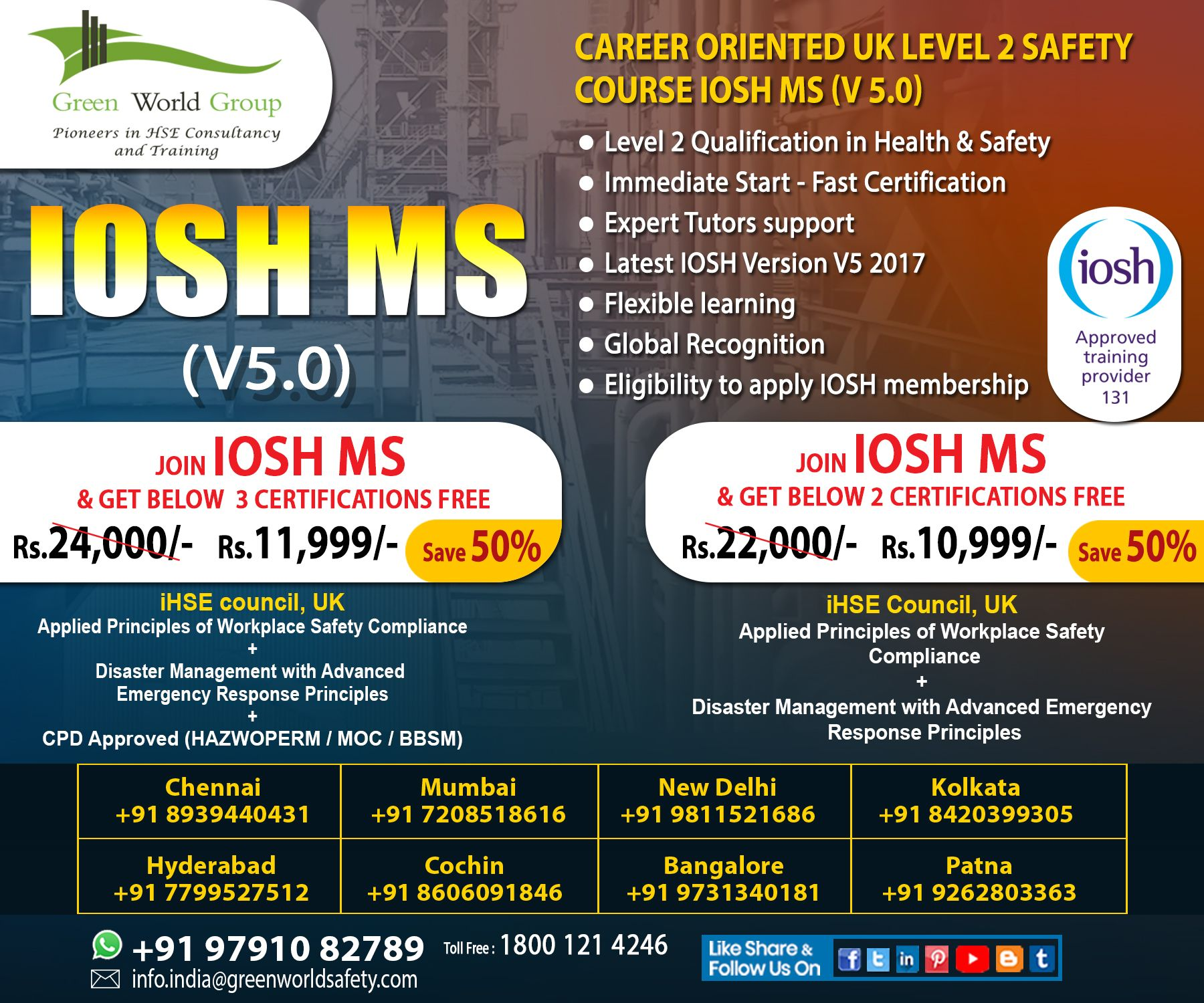 IOSH Course in Chennai Workplace safety and health