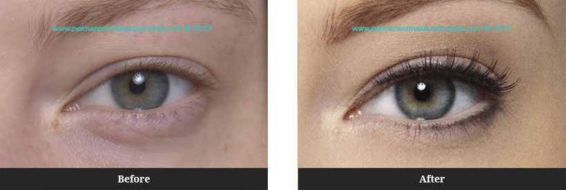 Permanent Eyeliner Before And After Permanent Makeup By