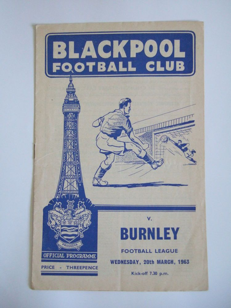 Blackpool v burnley 1st division 20th march 1963 with