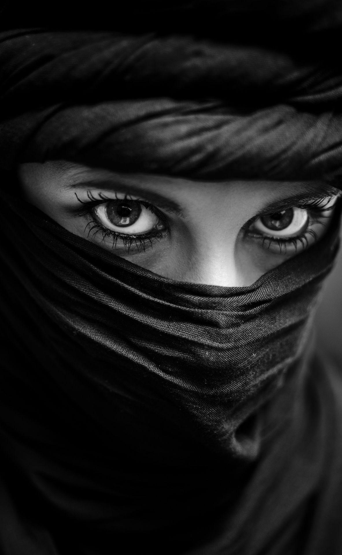 Eyes Moroco Culture Ojos Rostros Blanco Y Negro