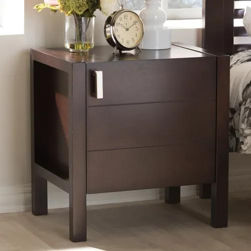 Best Jensen Brown Wood Nightstand Wood Nightstand Dark Wood 400 x 300
