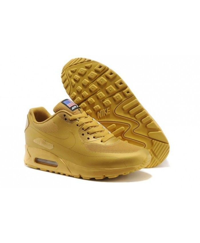 finest selection d1213 ad8cc Nike Air Max 90 Mens Hyperfuse Qs All Gold Trainer