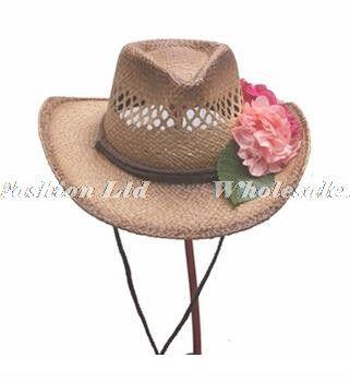 Wholesale 6pcs Lot Cool Mens Western Cowboys Straw Hats Women Nature Summer  Sun Beach Cap 14cc7966a1d9