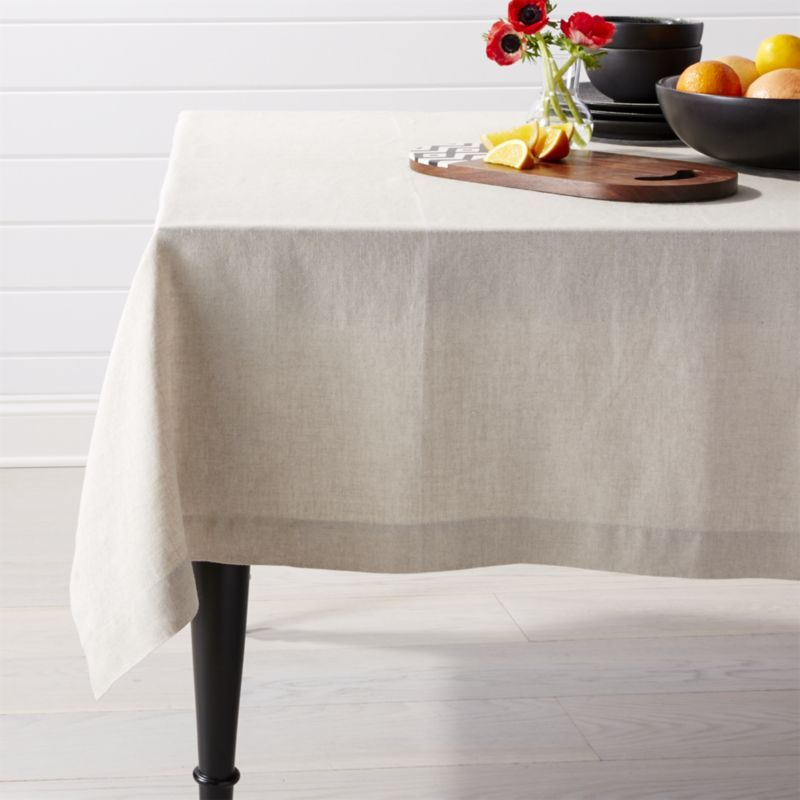 shop helena dark natural linen tablecloth part of our helena table linen collection this