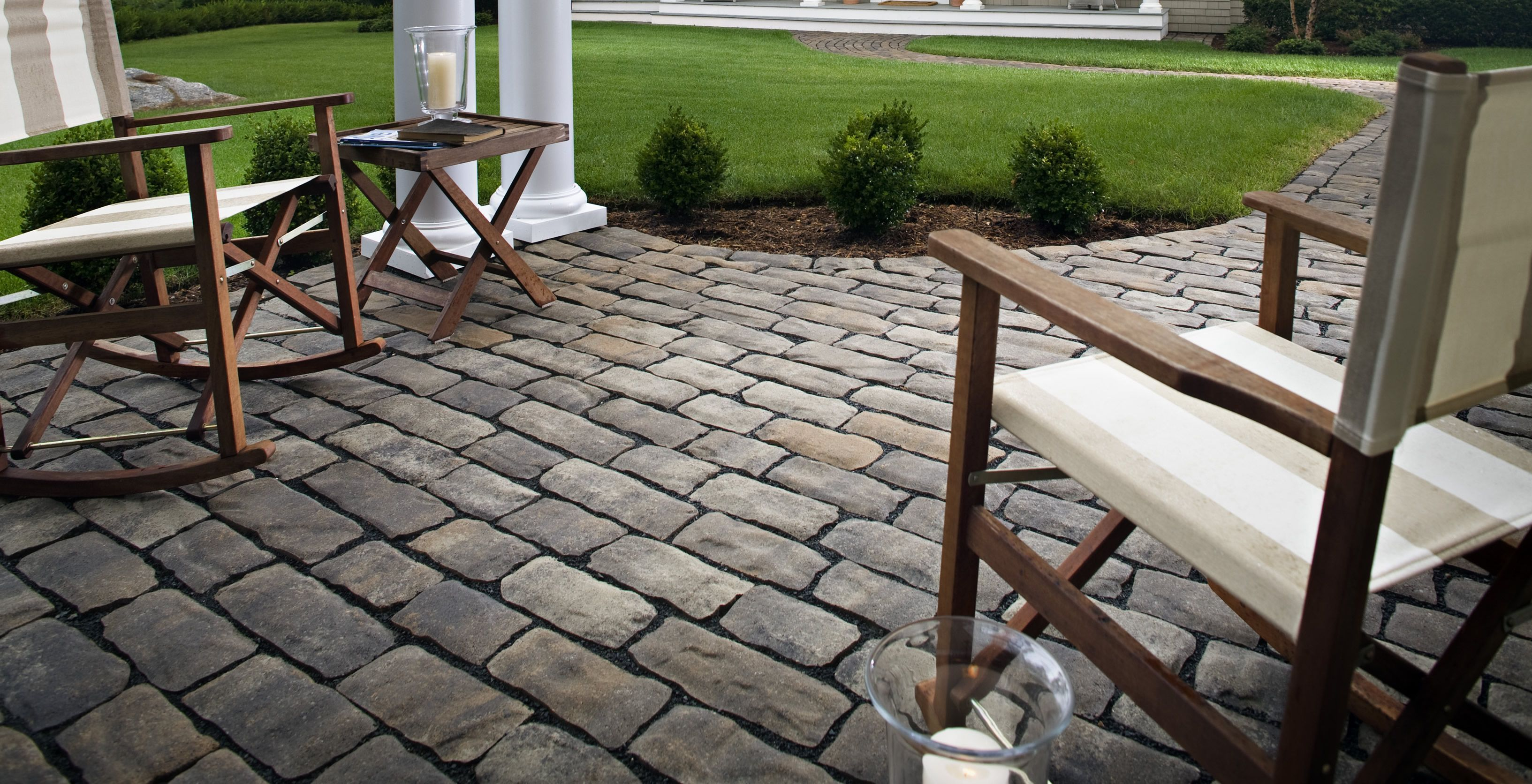 Charming Patio Design Ideas With Pavers | Cobblestone Paver Patio San Diego