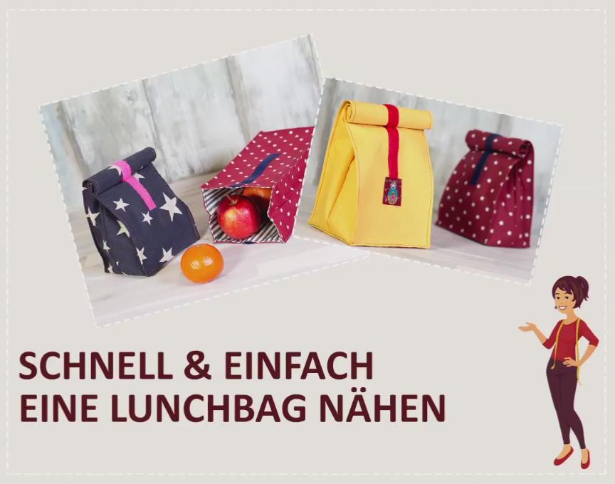 Photo of Kostenloses Schnittmuster zum Nähen einer Lunch-Tasche. In Ihrer Lunch-Tasche können Sie …