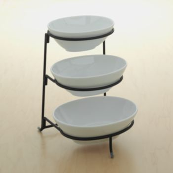 Food Network 3 Tier Serving Bowl Server Tiered Serving Stand Serving Bowls Snack Display