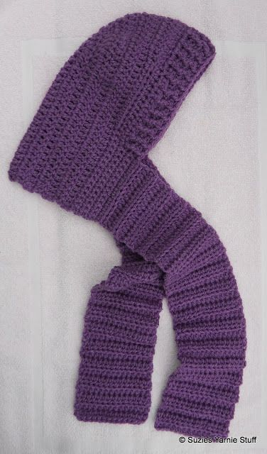 Suzies Stuff Childs Hooded Scarf Child Size Free Crochet