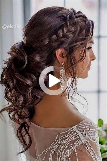 Half up half down wedding hairstyles updo for long hair for medium length for bridemaids #hair