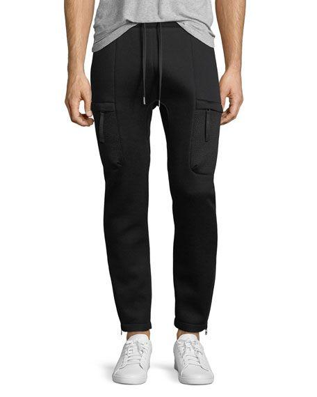 HELMUT LANG Ballistic Neoprene Jogger Pants, Black. #helmutlang #cloth #