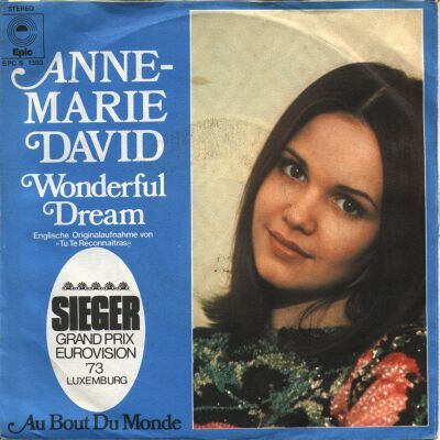 "Anne Marie David - ""Wonderful Dream"", english version of ""Tu te reconnaitras"", the winning song of the Eurovision Song Contest 1973"