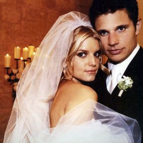 Nick Lachey And Jessica Simpson Wedding Photos Celebrity Bride Guide