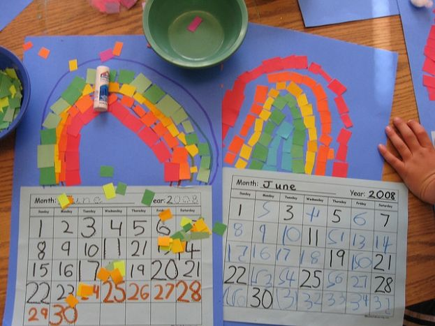 Calendar Kids Craft : These homemade calendars are the perfect gift christmas