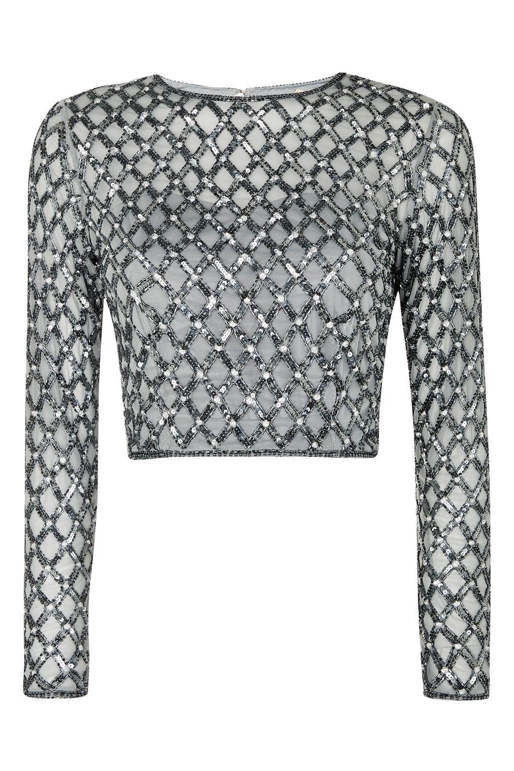 a45b0b3866ddc   Carmel Embellished Crop Top by Lace   Beads - T-Shirts - Clothing -  Topshop Europe