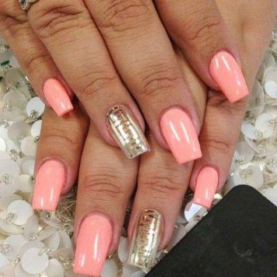 pretty greek pattern salmon nails avec images  ongles
