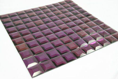 "Purple Pyramid - 1""x1"" Purple Pyramid Glass Tile by MC Glass, http://www.amazon.com/dp/B008XZLOPY/ref=cm_sw_r_pi_dp_qHbMrb1JZ9E6D"