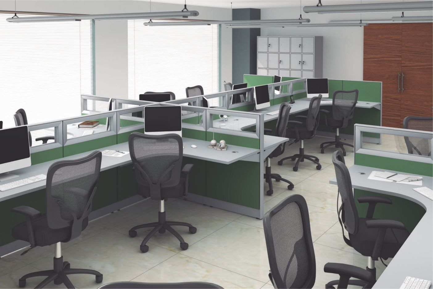 BIOMBO EVOLUTION | Uma estrutura planejada para organizar seu escritório com praticidade. Bom gosto e várias opções de cores que deixam o local mais alegre. (Escritório)