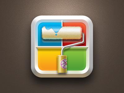 Paint App Icon Design Icon Design Inspiration Painting Logo