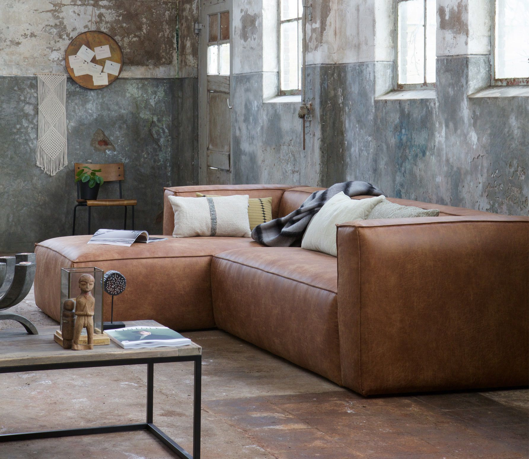 Prime Woood Bean Hoekbank Links Cognac In 2019 Couch Ashley Pabps2019 Chair Design Images Pabps2019Com