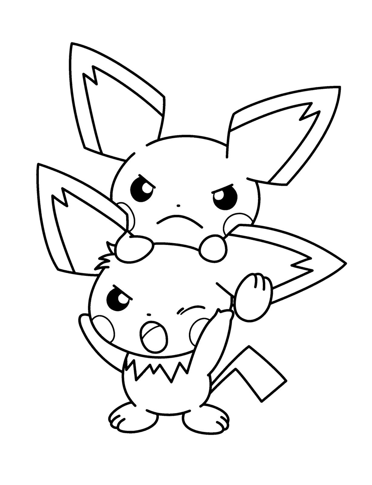 colering pokemon coloring pages pikachu - Pokemon Pics To Color