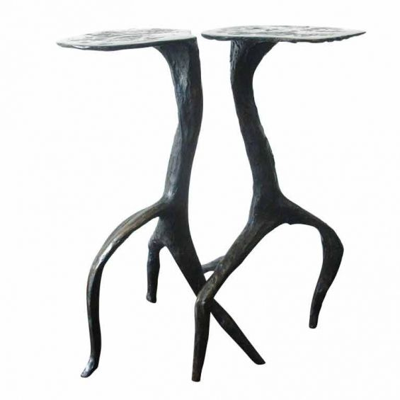 Bronze Tables - Bronze Table With Marble Top - BT-1186