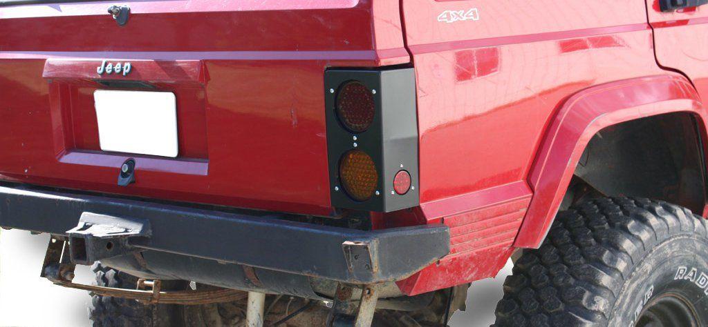 Jcr Offroad Heavy Duty Led Tail Light Housing For 84 96 Jeep Cherokee Xj Led Tail Lights Tail Light Jeep